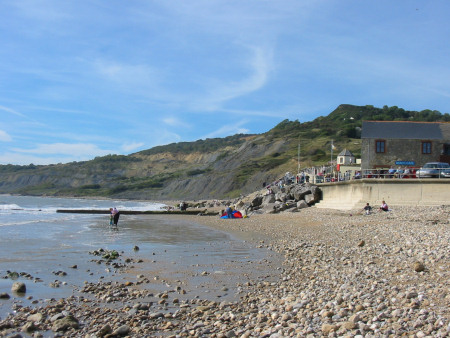 View from Charmouth towards Black Ven and Lyme Regis