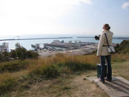 Lucinda Shepherd overlooking Dover Port