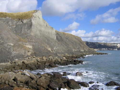 Folkestone Copt Point cliffs