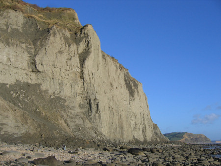 Towering cliffs at Golden Cap