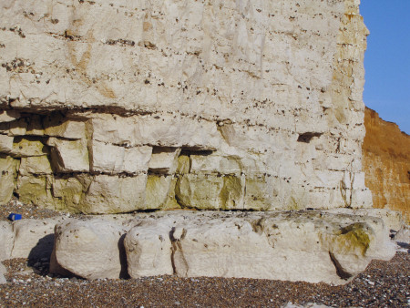 Lewes Nodular Chalk with the Hope Gap Hardground at Seaford Head