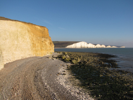 View from Seaford Head with loess and coombe deposits visible in the cliff-face
