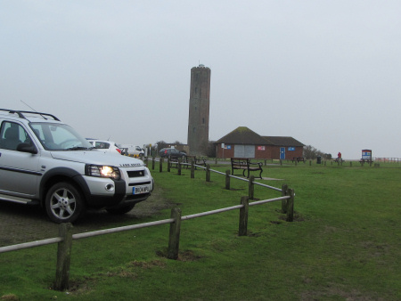 The Naze Tower and car park